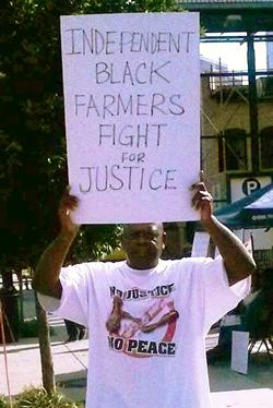 Isaac Decatur, a Black farmer from Georgia, takes part in Atlanta