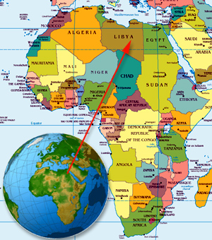 """Who The Hell Do You Think You Are?"" Farrakhan Blasts Obama On Libya Bombing Africa Libya map 2"