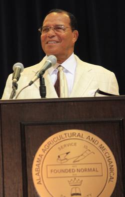 Farrakhan addresses thousands at Alabama A&M University